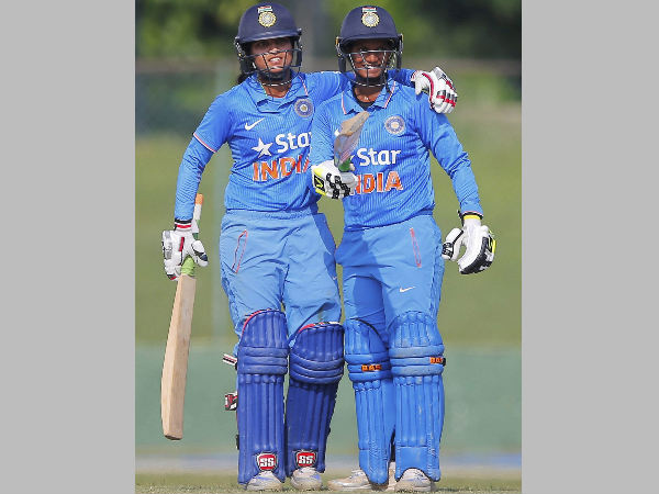 File photo: Deepti Sharma (right) with her teammate