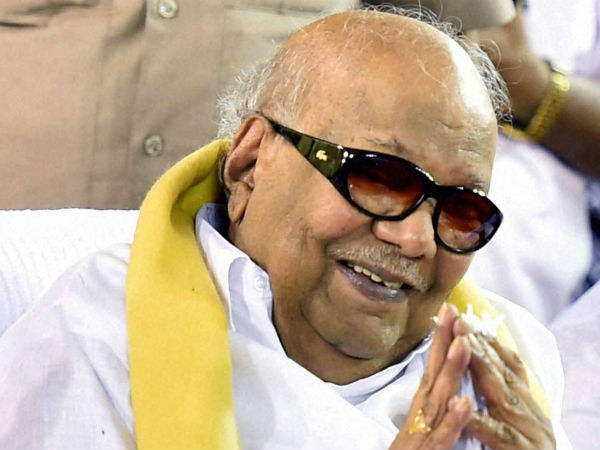 File photo of Karunanidhi