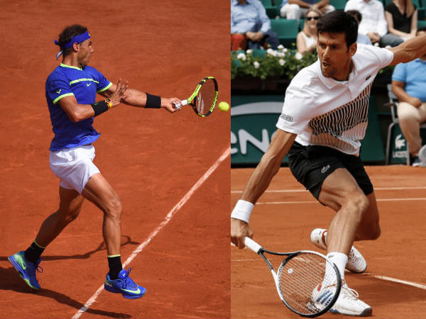 From left: Rafael Nadal and Novak Djokovic (Image courtesy: Roland Garros Twitter handle)