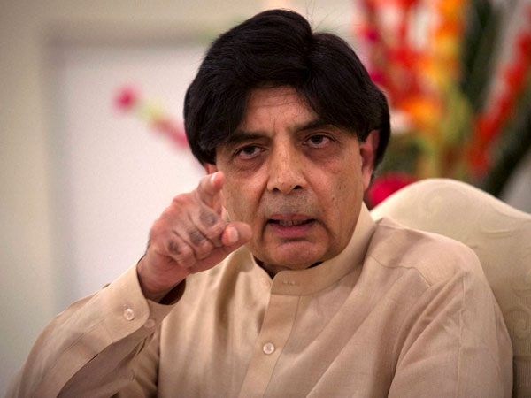 Pakistan Interior Minister Chaudhry Nisar Ali Khan