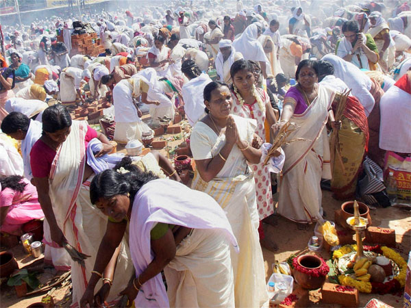 Devotees participate in the Attukal Pongala, the largest annual gathering of women in Kerala. (File photo). Photo credit: PTI