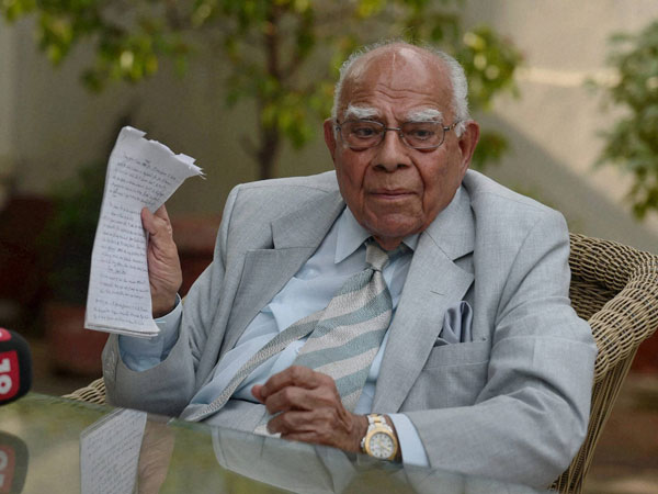 Veteran lawyer, Ram Jethmalani announces retirement