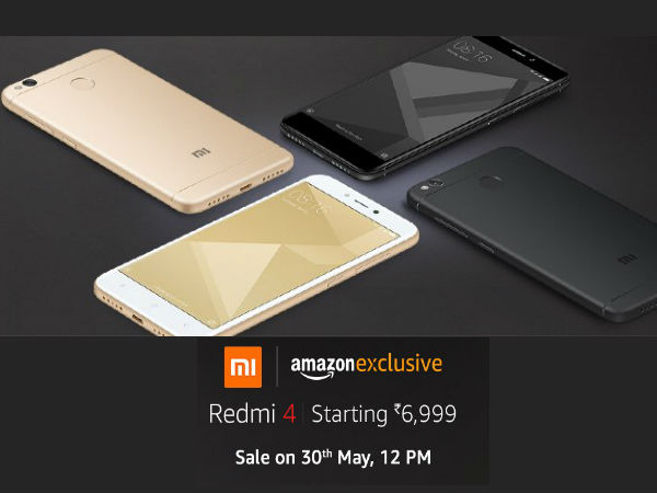 MONDAY MASH-UP!! Amazon Exclusive Redmi 4 Starting at Rs.6999*