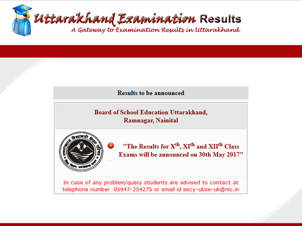 Uttarakhand UBSE Class 10 Board Results 2017 to be declared today