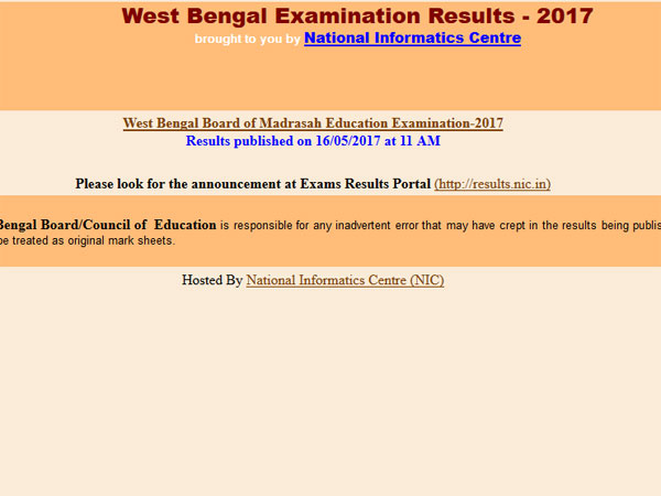 WBBSE may declare Madhyamik Pariksha results 2017 in last week of May