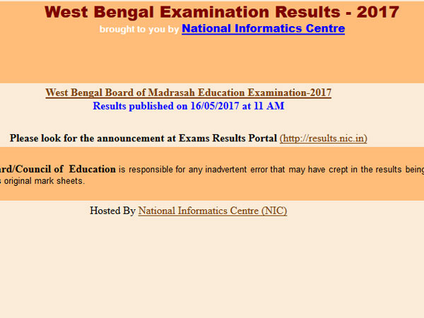 West Bengal WBCHSE Class 12 Results 2017 on May 30 at 10 am, how to check