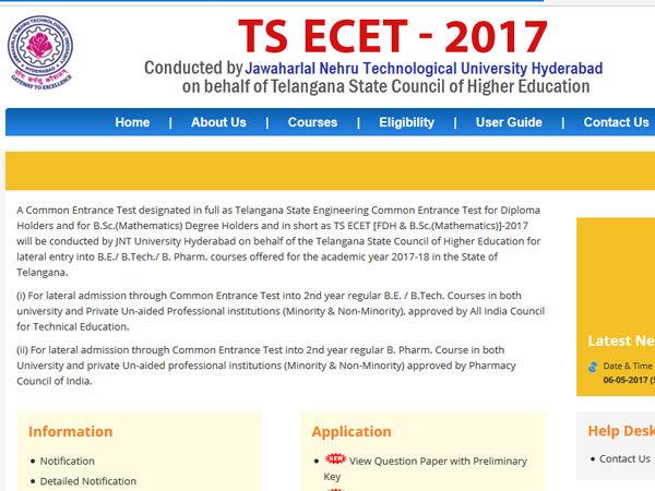 Telangana EAMCET results to be out today