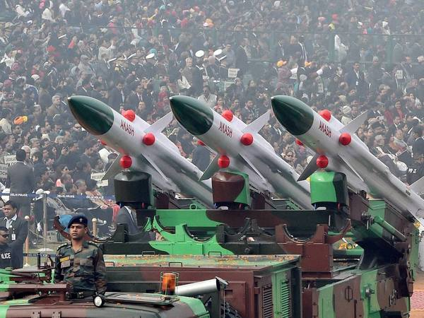 File photo of Aakash missile at Republic Day parade