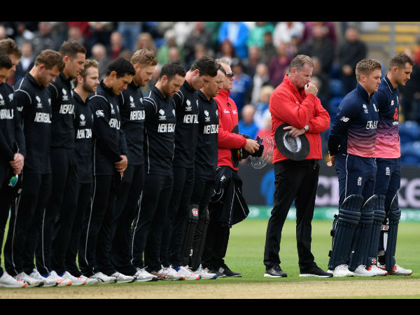 ICC Champions Trophy: England-New Zealand game halted in memory of victims of London tragedy