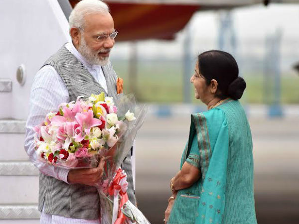 Modi arrives in New Delhi after three-nation tour