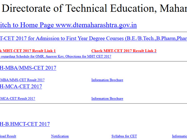 MHT CET Results 2017 declared, here is how to check