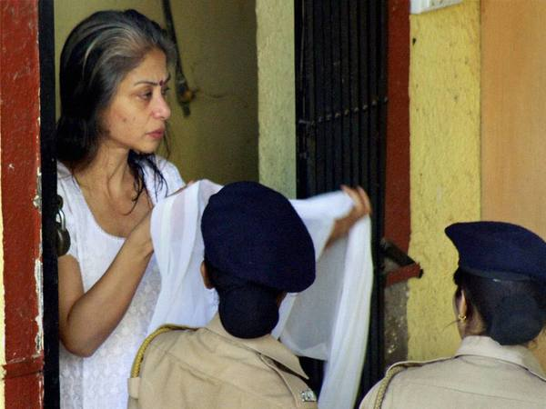 File photo of Indrani Mukherjee arriving to attend the post-death rituals of her father in December, 2016 (Photo courtesy - PTI)