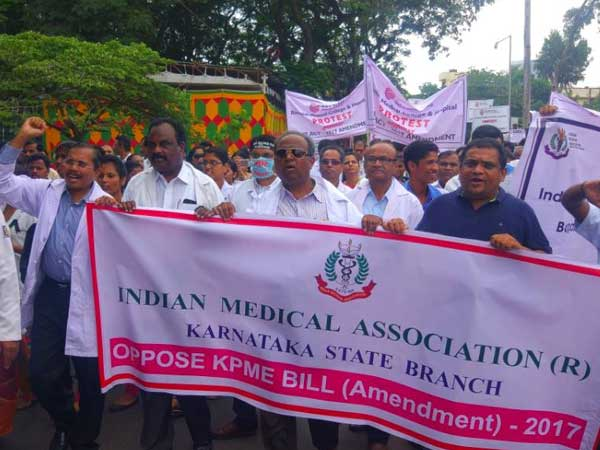 Karnataka government moves to fix rates at private hospitals, doctors go on strike