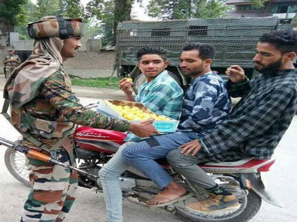 This Eid, Indian soldiers, Kashmiris bonded over sweets