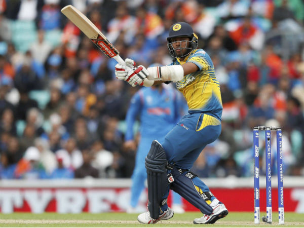 Kusal Mendis plays a shot
