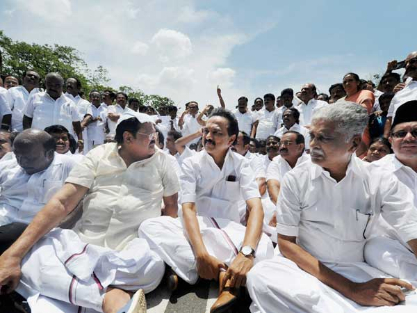DMK leaders walk out of assembly; to raise MLA bribing issue in Madras HC