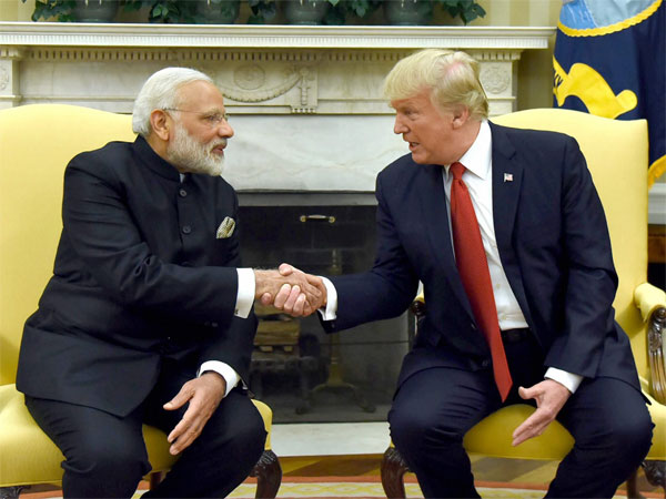 Prime Minister Narendra Modi meeting the President of United States of America (USA), Donald Trump, at White House, in Washington DC, USA