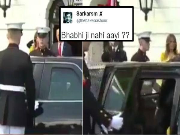 Bhabhi ji nahi aayi? US guard opening left door of the car expecting Mrs Modi is making waves