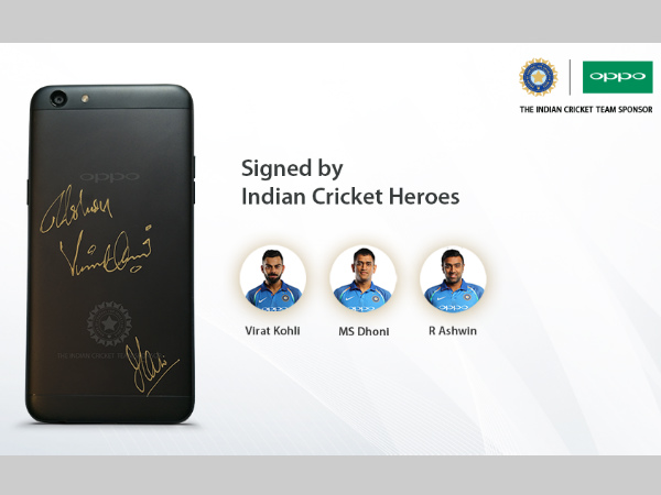 OPPO F3 BCCI Limited Edition phone to be auctioned