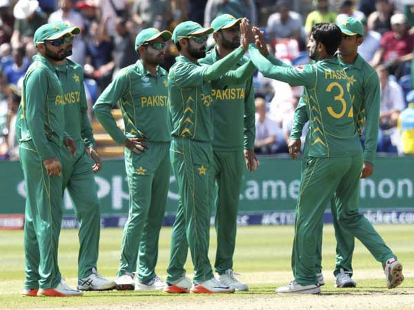 Pakistan players at Champions Trophy 2017