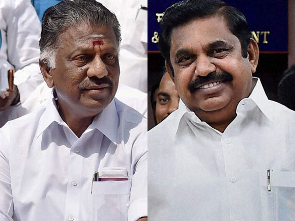 Deputy O Panneerselvam and Chief Minister K Palaniswami. PTI file photo