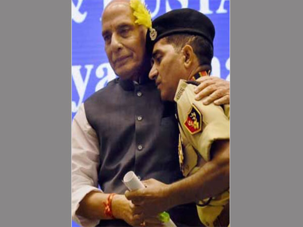 Rajnath breaks protocol, gives brave BSF jawan who battled terrorists a hug