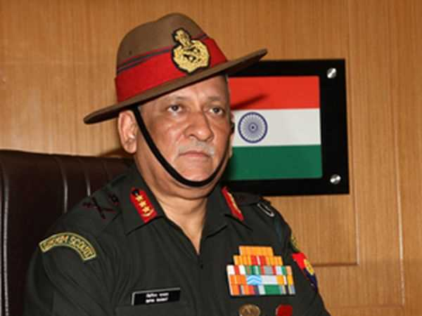 File Photo of Army chief Gen Bipin Rawat
