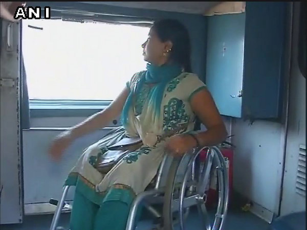 India para-athlete forced to sleep on train floor