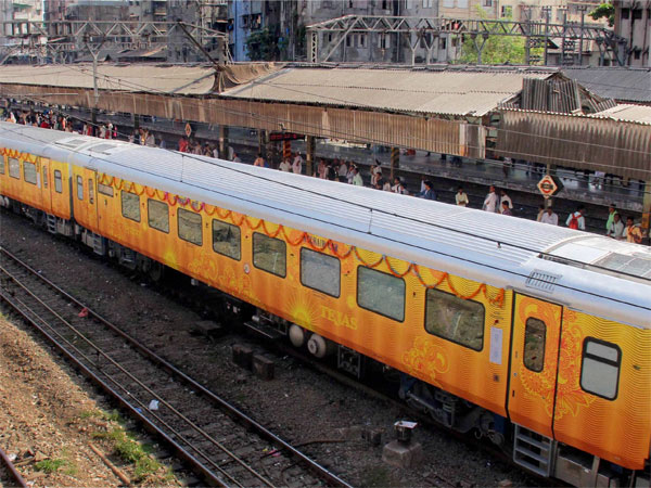 How Tejas Express started 3 hours late and arrived a minute early