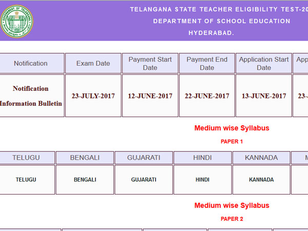 TS TET 2017: Notification out, know how to apply before June 23
