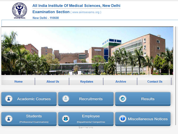 AIIMS MBBS Entrance Result 2017 declared, Get your score at aiimsexams.org