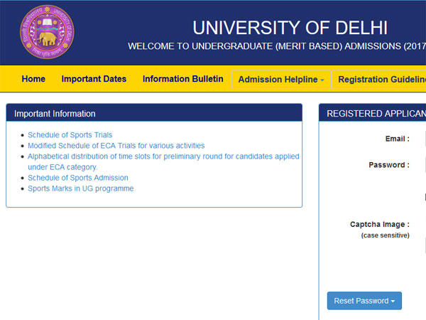 First cut-off list of Delhi University Out