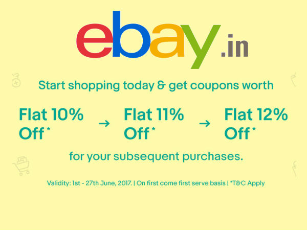 Post Fathers Day Sale! eBay Special Discount Coupons, Get Up To Flat 12% Off*