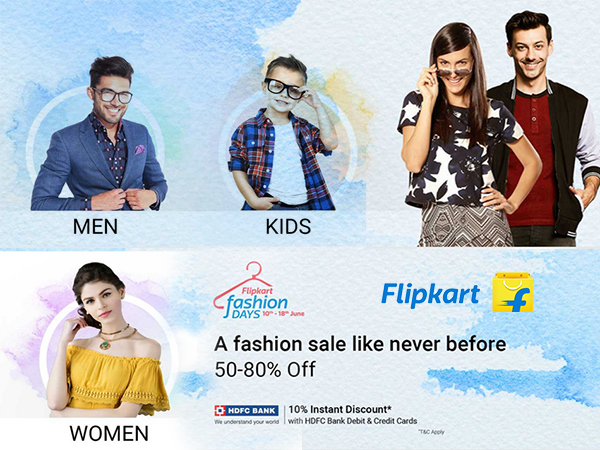 Flipkart Fashion Days: Up to 80% Off + Extra 10% Discount* Valid Till Jun 18th Only