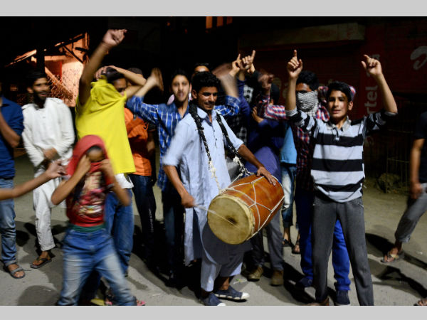 Kashmiri youths celebrate India losing wickets in Champions Trophy final