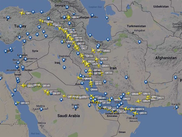 Airline operations to Doha not impacted, but flights get longer