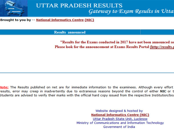 UP 10th and 12th Intermediate Results 2017 to be Declared @official