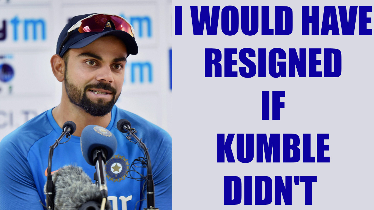 Virat Kumble row: Captain would have resigned if coach didn't
