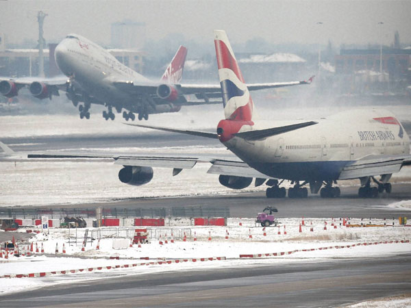 Heathrow Airport in London. PTI file photo