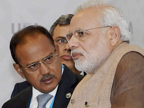 Ajit Doval and Narendra Modi