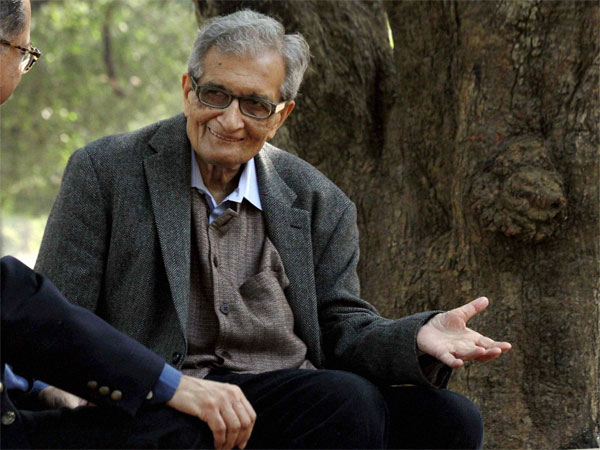 Nobel Laureate Amartya Sen during a shooting for a documentary film on him, at Visva-Bharati University, Santiniketan in Birbhum district of West Bengal. PTI file photo
