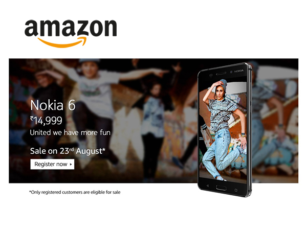 MOST AWAITED: Nokia 6 Smartphone is here, Register Now at Amazon*