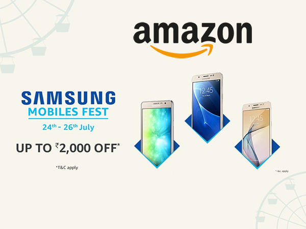 Amazon Samsung Mobiles Fest (24th - 26th July) - Get Up To Rs. 2,000 Off*
