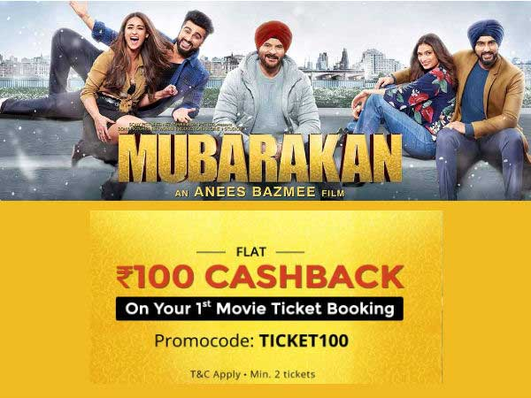 COUPON FRIDAY'S: Get FLAT Rs. 100 Cashback On Movie Tickets*via Paytm, BookMyShow, Now