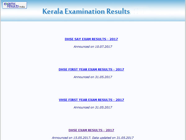 DHSE Kerala Plus Two SAY result 2017 declared, how to check