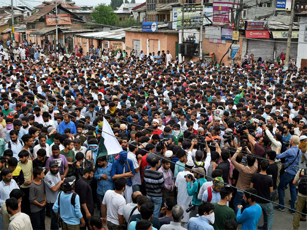 A terrorist funeral with a difference: No pro Pak slogans in Valley this time