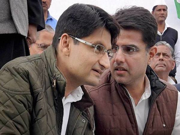 Congress leaders Deepinder Singh Hooda (left) and Sachin Pilot
