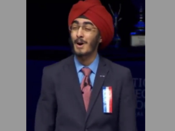Sikh Indian-American student wins top original orator contest in US
