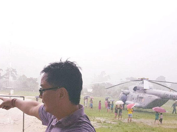 Kiren Rijiju's chopper makes emergency landing in Arunachal Pradesh