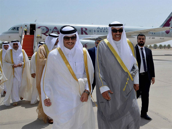 Emir of Qatar Sheikh Tamim bin Hamad Al-Thani and Turkey's President Recep Tayyip Erdogan. PTI file photo